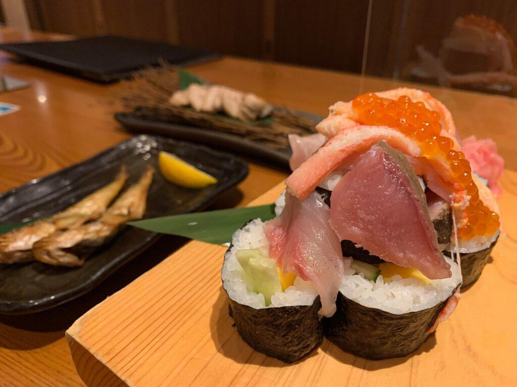 天プロの超ゆる合宿での食事・お寿司